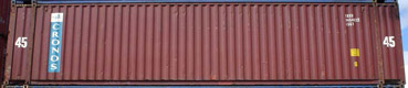 45HC CRXU container picture