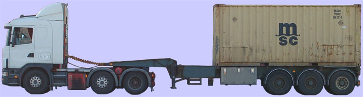 Drop frame tank chassis for 20 and 24ft